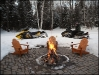 U) Fire Pit in Winter